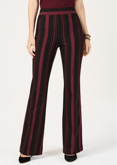 INC International Concepts I.n.c. Petite Striped Ponte-Knit Bootcut Pants, Created for Macy's