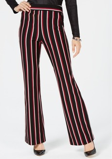 INC International Concepts I.n.c. Curvy Striped Ponte-Knit Bootcut Pants, Created for Macy's