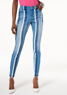 I.n.c. Curvy-Fit Striped Skinny Jeans, Created for Macy's