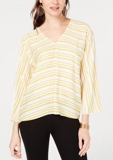 INC International Concepts I.n.c. Striped V-Neck Top, Created for Macy's