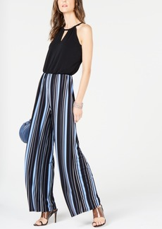 INC International Concepts I.n.c. Striped Wide-Leg Jumpsuit, Created for Macy's