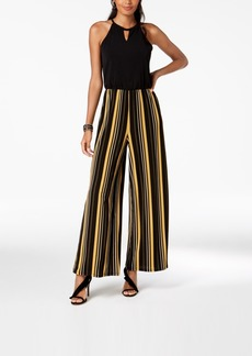 INC International Concepts I.n.c. Petite Striped-Leg Keyhole Jumpsuit, Created for Macy's