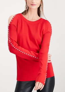 INC International Concepts I.n.c. Studded Cold-Shoulder Top, Created for Macy's