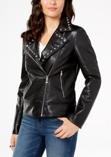 INC International Concepts I.n.c. Studded Faux-Leather Moto Jacket, Created for Macy's