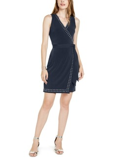 INC International Concepts Inc Studded Faux-Wrap Dress, Created for Macy's