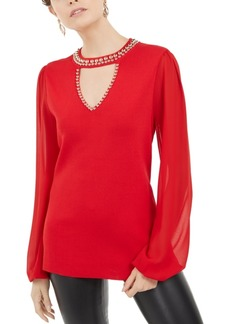 INC International Concepts Inc Studded Keyhole Sweater, Created For Macy's