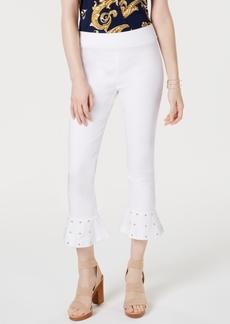 INC International Concepts Inc Studded Ruffle-Hem Pants, Created for Macy's