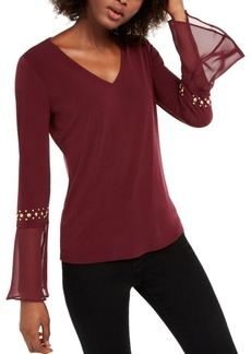 INC International Concepts Inc Studded-Sleeve Top, Created For Macy's