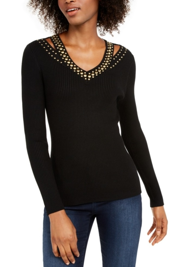 INC International Concepts Inc Studded Sweater, Created For Macy's
