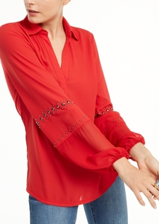 INC International Concepts Inc Studded Woven Top, Created for Macy's
