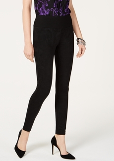 INC International Concepts I.n.c. Suede-Front Ponte-Back Skinny Pants, Created for Macy's