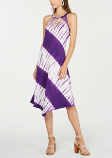 INC International Concepts I.n.c. Tie-Dyed Crochet Midi Dress, Created for Macy's