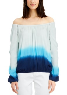 INC International Concepts Inc Tie-Dyed Off-The-Shoulder Top, Created for Macy's
