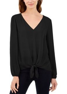 INC International Concepts Inc Tie-Front Blouson Top, Created For Macy's