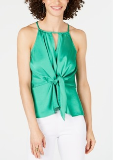 INC International Concepts Inc Tie-Front Keyhole Top, Created for Macy's