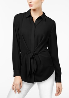 INC International Concepts I.n.c. Tie-Front Shirt, Created for Macy's