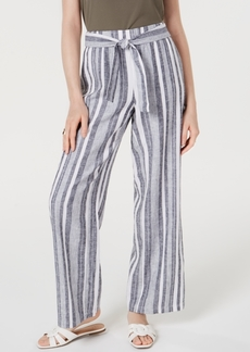 INC International Concepts Inc Tie Waist Wide-Leg Pants, Created for Macy's