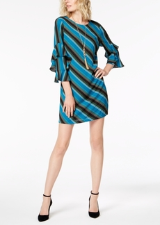 INC International Concepts I.n.c. Tiered-Sleeve Striped Sheath Dress, Created for Macy's