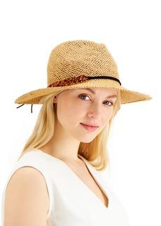 INC International Concepts Inc Tortoiseshell-Links Open-Weave Panama Hat, Created for Macy's