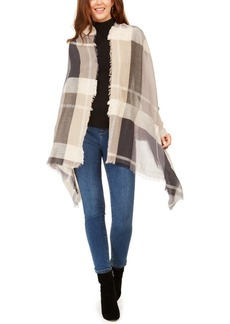 INC International Concepts Inc Touch Of Shine Plaid Wrap Scarf, Created for Macy's