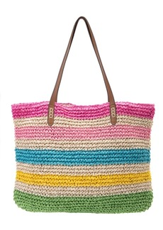 Inc International Concepts Tropical Straw Tote, Created for Macy's