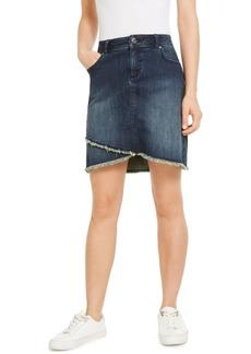 INC International Concepts Inc Tulip-Hem Jean Skirt, Created for Macy's