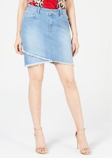 INC International Concepts Inc Curvy Tulip-Hem Jean Skirt, Created for Macy's