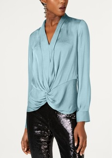 INC International Concepts I.n.c. Twist-Front Blouse, Created for Macy's