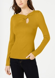 INC International Concepts Inc Twist-Front Long-Sleeve Sweater, Created for Macy's