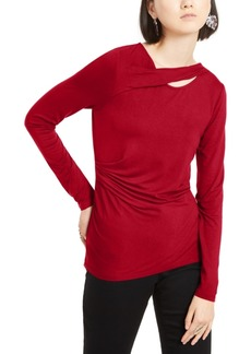 INC International Concepts Inc Twist-Neck Top, Created for Macy's