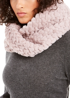 INC International Concepts Inc Twisted Heart Faux Fur Cowl Loop Scarf, Created For Macy's