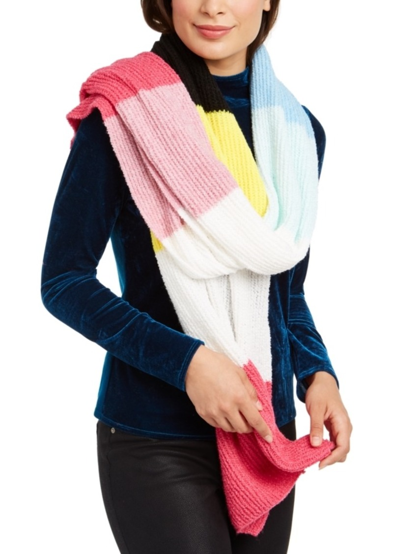 INC International Concepts Inc Twisted Rib Colorblocked Muffler Scarf, Created for Macy's