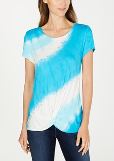 INC International Concepts Inc Twisted Tie-Dyed T-Shirt, Created for Macy's