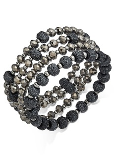 INC International Concepts Inc Two-Tone 4-Pc. Set Beaded Stretch Bracelets, Created for Macy's