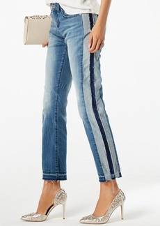 I.n.c. Curvy-Fit Two-Tone Ankle Jeans, Created for Macy's
