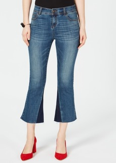 INC International Concepts I.n.c. Two-Tone Kick-Flare Jeans, Created for Macy's