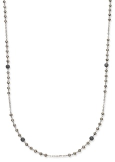 INC International Concepts Inc Two-Tone Pave Beaded Station Necklace, Created for Macy's