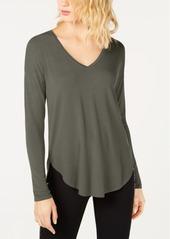 INC International Concepts Inc V-Neck Curved-Hem T-Shirt, Created for Macy's