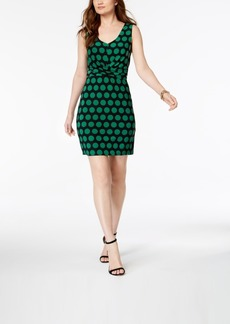INC International Concepts I.n.c. V-Neck Dot-Print Dress, Created for Macy's