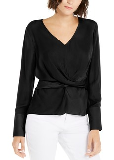 INC International Concepts Inc V-Neck Twist-Front Blouse, Created For Macy's