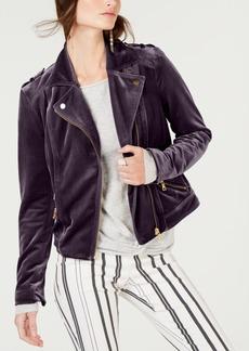 INC International Concepts I.n.c. Velvet Moto Jacket, Created for Macy's