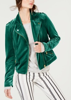 INC International Concepts I.n.c. Velvet Moto Jacket, Created for Macy's
