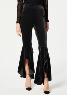 INC International Concepts I.n.c. Velvet Slit Wide Leg Pants, Created for Macy's