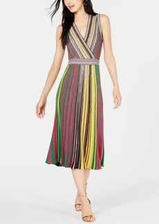 INC International Concepts Inc Vertical-Stripe Sweater Dress, Created for Macy's