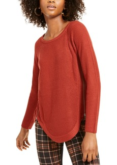 INC International Concepts Inc Waffle-Knit Side-Zip Tunic Sweater, Created for Macy's