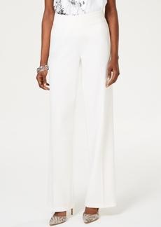 INC International Concepts I.n.c. Wide-Leg Crepe Side Zip High Waist Pants, Created for Macy's