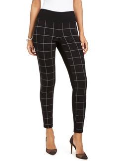 INC International Concepts Inc Curvy-Fit Windowpane Skinny Pants, Created for Macy's