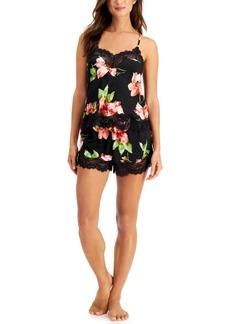 INC International Concepts Inc Women's 2-Pc. Satin Cami & Shorts Pajama Set, Created for Macy's
