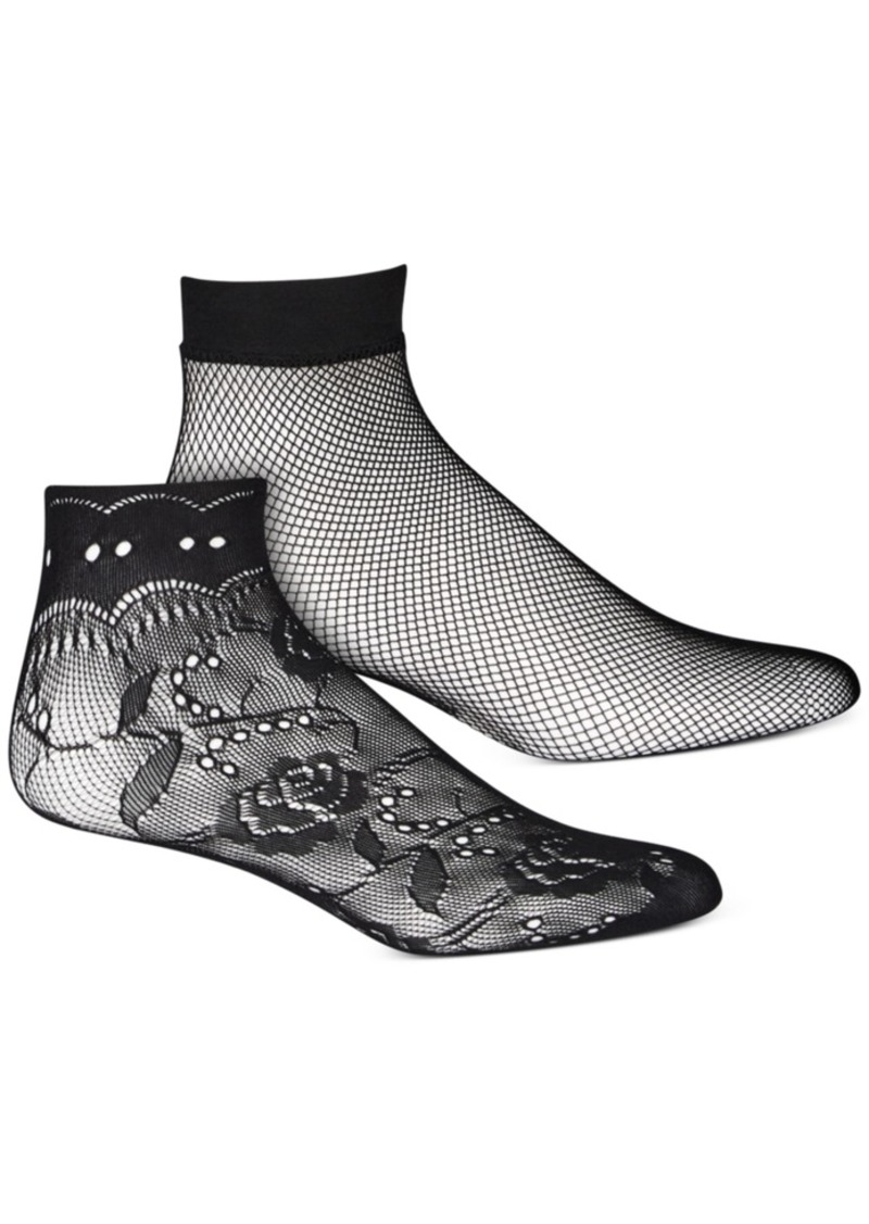 Inc Women's 2-Pk. Lace Anklet Socks, Created for Macy's