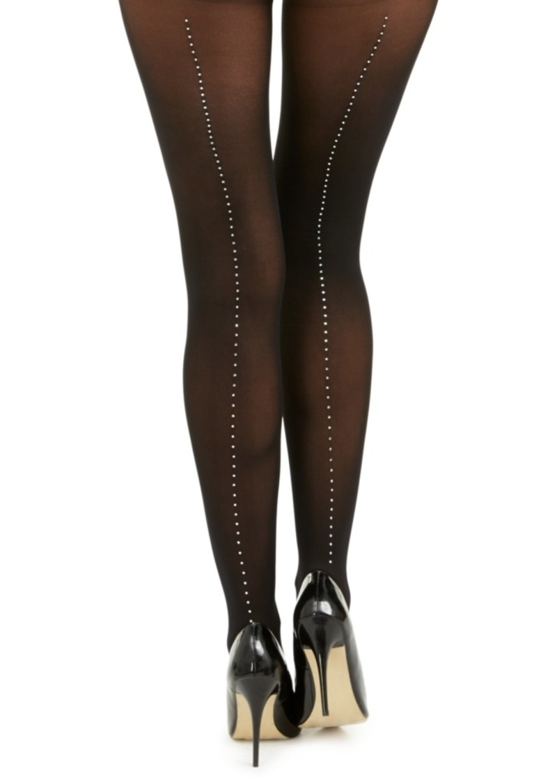 INC International Concepts Inc Women's Embellished-Seam Tights, Created For Macy's
